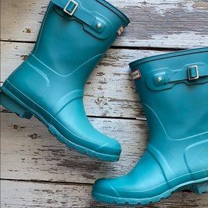 Hunter original Short Matte turquoise Rainboots